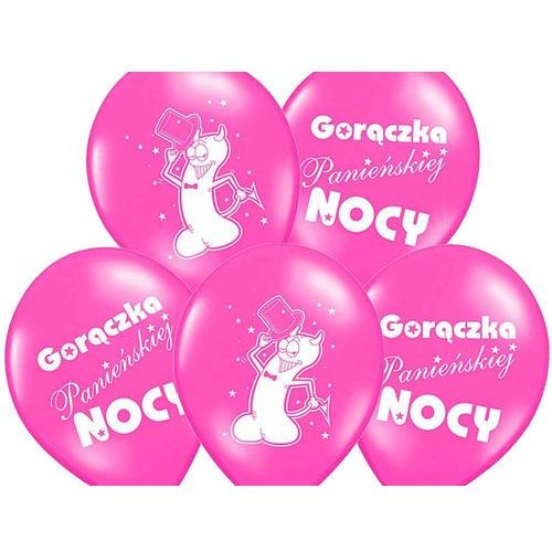 Twojestroje.pl Balon lateksowy różowy gorączka panieńskiej nocy 30 cm 1szt