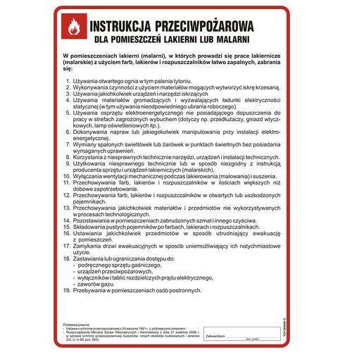 Instrukcja przeciwpożarowa dla lakierni (malarni) marki Top design
