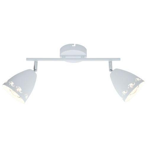 Candellux Listwa lampa sufitowa plafon spot coty 2x40w e14 biały mat 92-67128 (5906714867128)