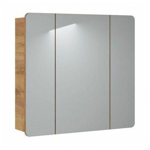 Podwieszana szafka łazienkowa z lustrem Borneo 14X - Biala