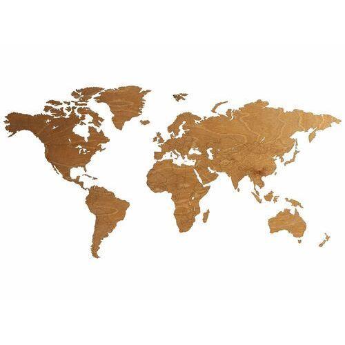 Duża dekoracja drewniana na ścianę mapa świata z granicami państw marki Congee.pl