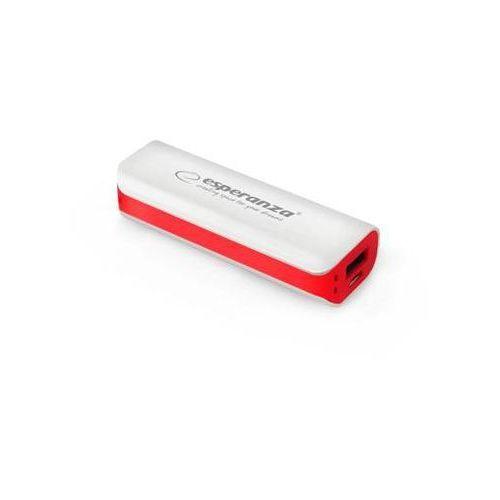 "Power bank Esperanza 2200mAh ""Joule"" biało/czerwony"