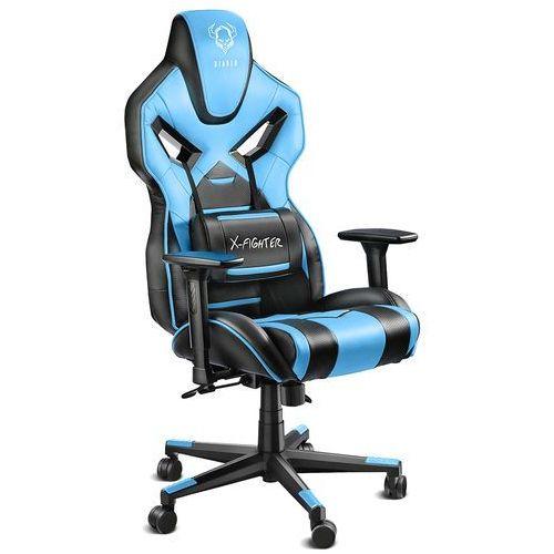 Fotel DIABLO CHAIRS X-Fighter Czarno-niebieski + Zamów z DOSTAWĄ JUTRO! (5902560333244)