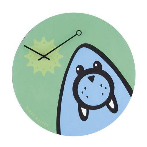 Zegar ścienny wizky walrus zielony marki Nextime