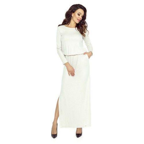Długa sukienka z koronką na plecach marki Bergamo