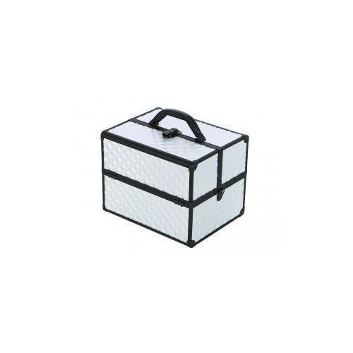 Kuferek Kosmetyczny PB1201 Silver 3D Z Czarną Ramką
