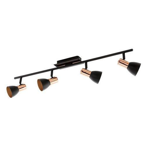 Listwa barnham 94587 lampa oprawa sufitowa spot 4x3,3w gu10 led czarny/ miedź marki Eglo
