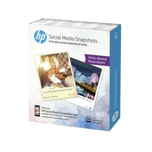 Przyklejany papier fotograficzny HP Social Media Snapshots 10x13cm 25ark. (0889899257166)