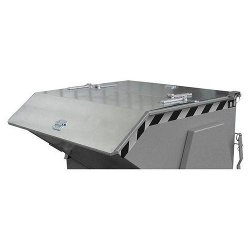 Pokrywa składana, ocynkowana, do poj. pojemnika 1,0 m³, dwuczęściowa. możliwość marki Bauer