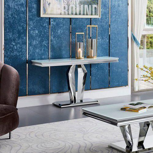 Bellacasa Konsola glamour belmont - stal szlachetna blat kamienny nowoczesny (5908273395272)