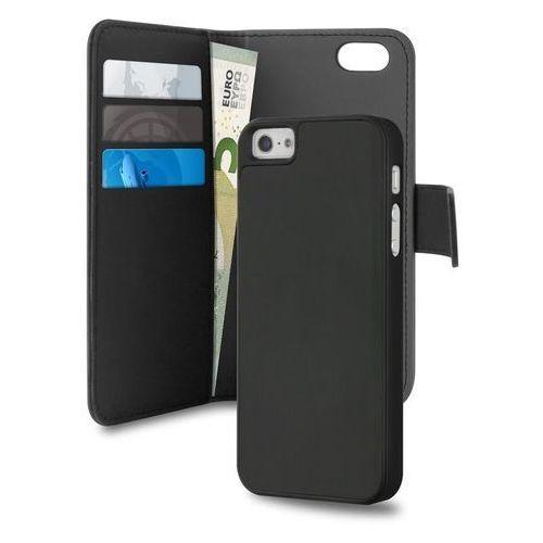 Puro wallet detachable - etui 2w1 iphone 5/5s/se (czarny) odbiór osobisty w ponad 40 miastach lub kurier 24h