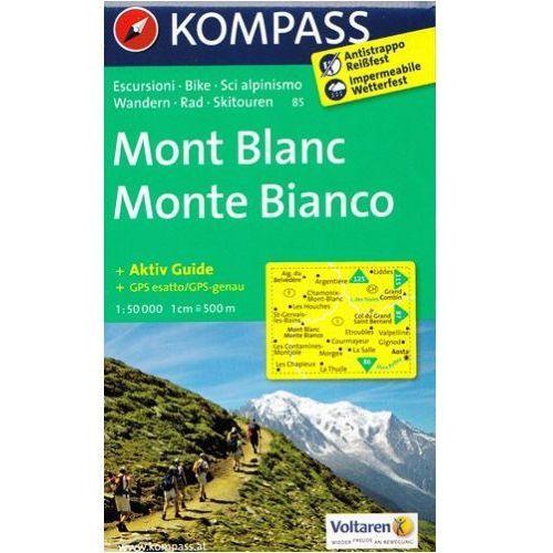 Mont Blanc mapa 1: 50 000 Kompass