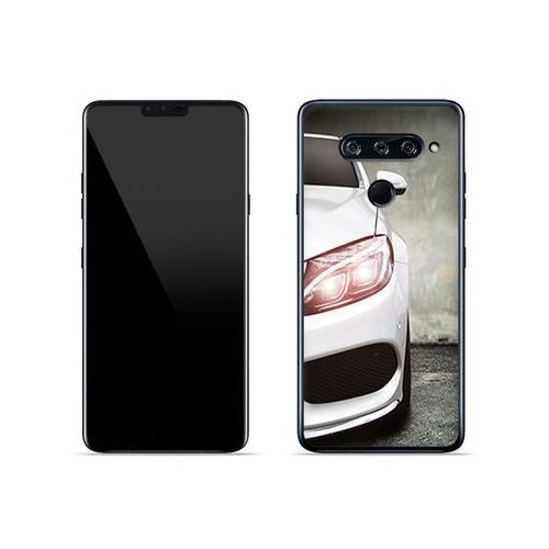 LG V40 ThinQ - etui na telefon Foto Case - biały samochód