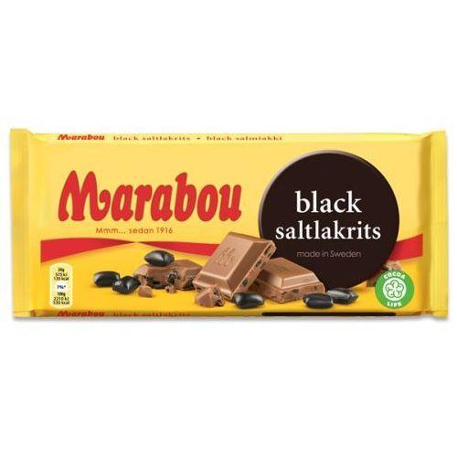 Marabou - Black Saltlakris - czekolada mleczna ze słonymi lukrecjami - 180g - ze Szwecji