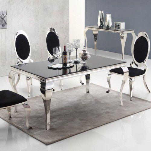 Stół glamour ludwik - blat szklany marki Bellacasa