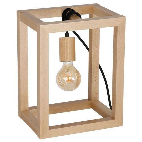 Lampka stołowa Luminex Legno 8425 lampa biurkowa drewniana 1x60W E27 brązowa / czarna