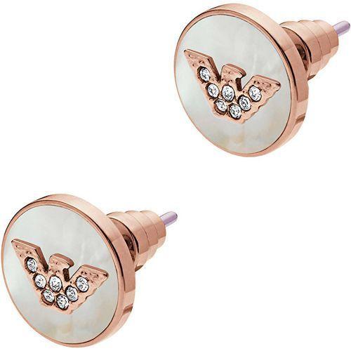 Emporio armani luksusowe kolczyki z perłami egs2311221