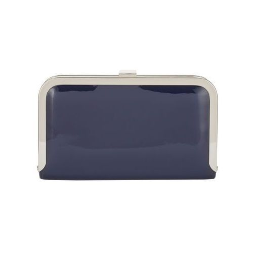 Phase eight poppy patent leather clutch