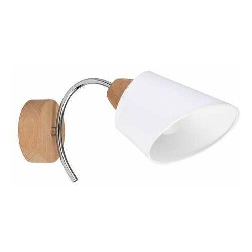 Spot Light Mette Wood 8341174 kinkiet lampa ścienna 1x40W E27 drewno/biały (5901602362051)