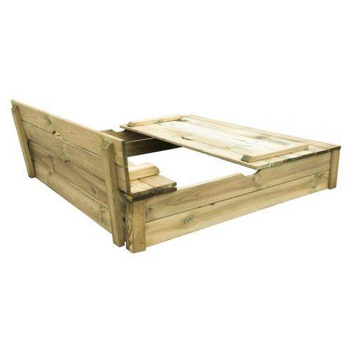 drewniana piaskownica 120 alix z ławkami marki Trigano
