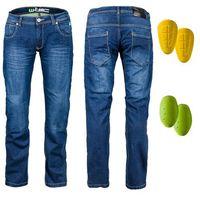 Męskie jeansy motocyklowe r-1027, niebieski, 44 marki W-tec