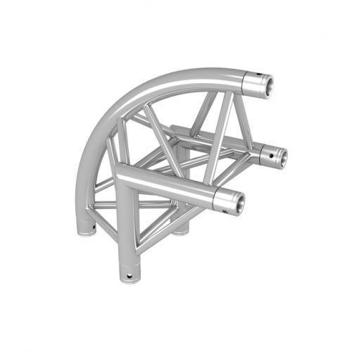 DuraTruss DT 33-C24R-L90 90° Corner 50cm element konstrukcji aluminiowej - narożnik zaokrąglony
