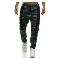 Spodnie męskie dresowe joggery multikolor denley 3775d marki Crws dnm