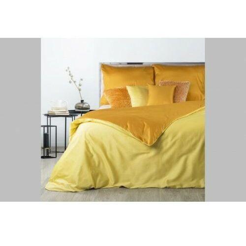 Eurofirany Pościel satynowa 160x200 nova żółty pomarańcz