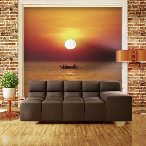 Artgeist Fototapeta - łódź rybacka o zachodzie słońca