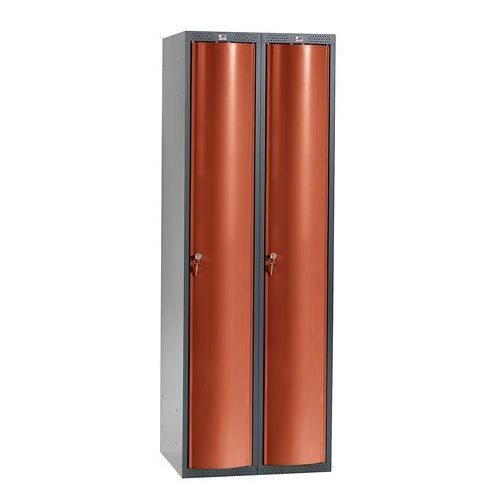 Aj produkty Szafa szatniowa curve, 2 moduły, 2 drzwi, 1740x600x550 mm, czerwony