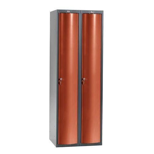 Aj Szafa szatniowa curve 2 sekcje 2 drzwi 1740x600x550 mm czerwony metalik