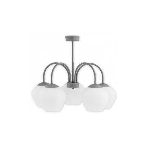 Lemir molto o2785 w5 sza plafon lampa sufitowa żyrandol 5x60w e27 szary mat