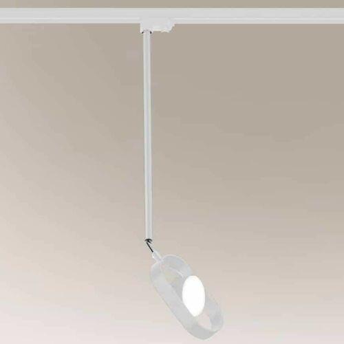 Shilo Regulowana lampa sufitowa furoku 7967 metalowa oprawa reflektorek led 6w 3000k do systemu szynowego biały (5903689979672)