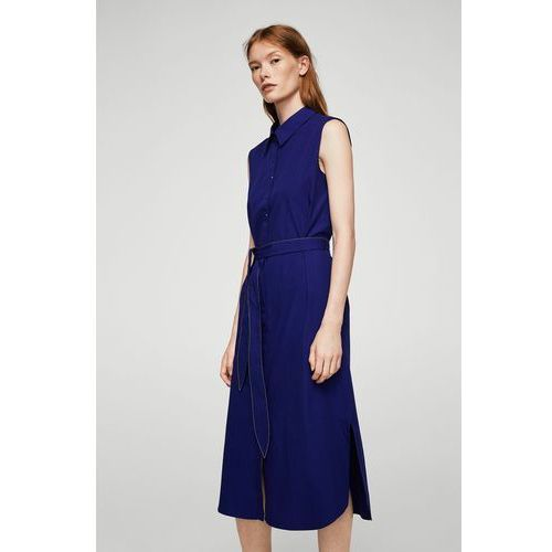 Mango - Sukienka Chucky, kolor niebieski