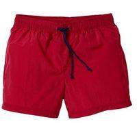 Bonprix Szorty plażowe regular fit ciemnoczerwony