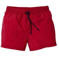 Szorty plażowe Regular Fit bonprix ciemnoczerwony, kolor czerwony
