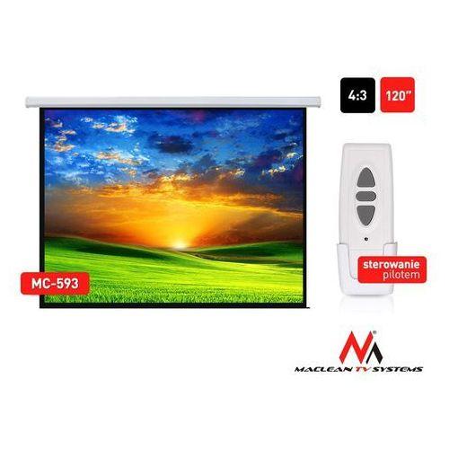 """Ekran projekcyjny elektryczny mc-593 120"""" 240x180 4:3 ściana lub sufit marki Maclean"""