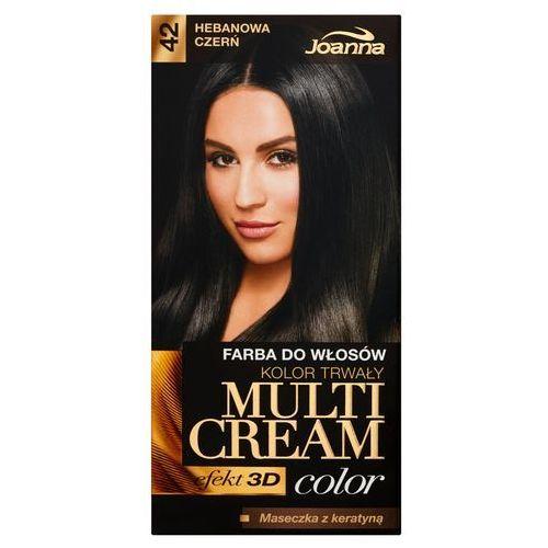 Farba do włosów Joanna Multi Cream Color hebanowa czerń 42 (5901018013318)