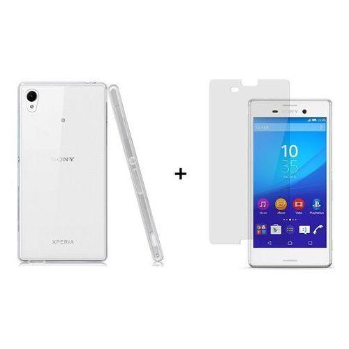 Zestaw Szkło ochronne Perfect Glass + Obudowa Ultra Slim Przezroczysta Sony Xperia M4 Aqua