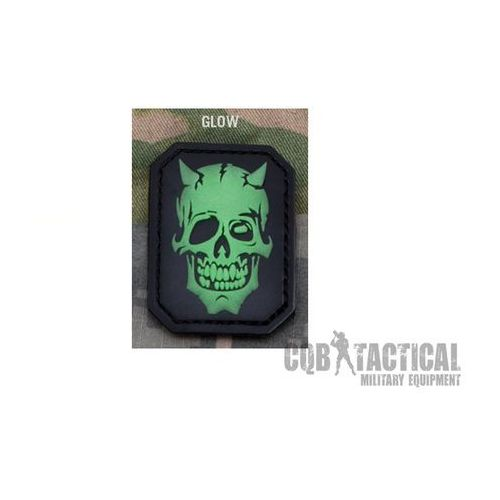 Naszywka Mil-Spec Monkey MM Devil Skull PVC Green Glow, msm252