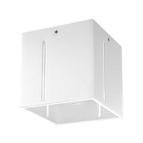 LAMPA sufitowa SOL SL.398 metalowa OPRAWA kwadratowa kostka cube biała