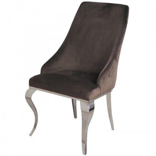 Krzesło glamour william brown - nowoczesne krzesło tapicerowane marki Bellacasa