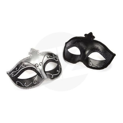 50 shades of grey Fifty shades of grey - maska karnawałowa masquerade mask twin pack dwupak, kategoria: maski i kneble
