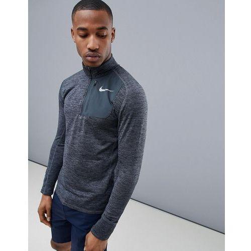 therma sphere element half zip sweat in black 857829-010 - black, Nike running