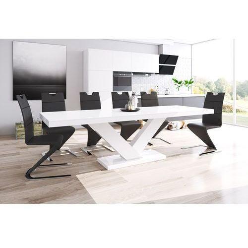 Hubertus design Stół rozkładany victoria biały wysoki połysk