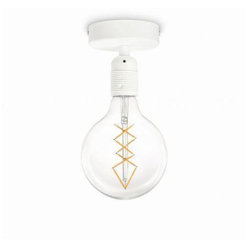 Sotto luce Industrialna lampa sufitowa bi elementary 1/c/white minimalistyczna oprawa na żarówkę loft biała