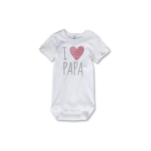 SANETTA Baby Body dziecięce Serce kolor biały (4050399659507)