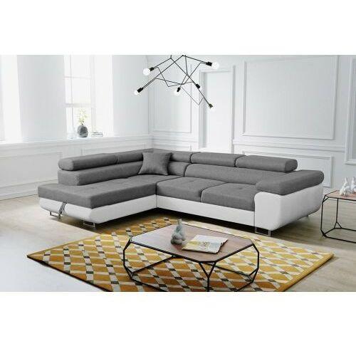 Sofa narożnik palermo rozkładana z funkcją spania i pojemnikiem dostawa 0 zł marki Big meble