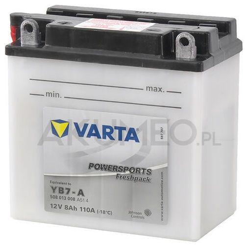 Akumulator powersports yb7-a 12v 8ah 110a lewy+ ol marki Varta