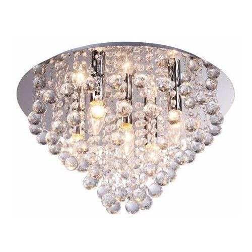 Lampa sufitowa LONDON CRISTAL srebrna E14 REALITY (5906737300145)